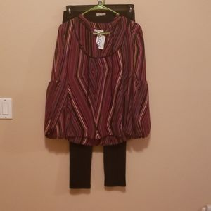 Tops - Brand new top with worn once leggings